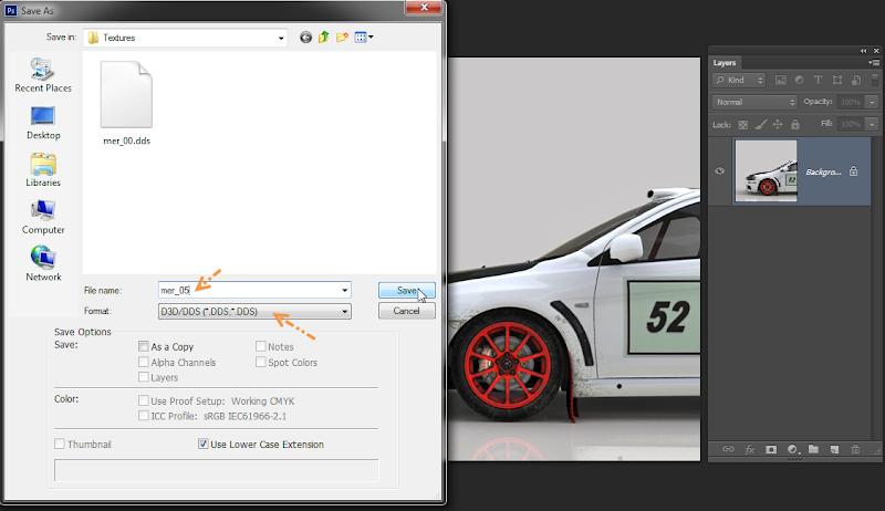 การเพิ่มลายรถใหม่ลงไปใน DiRT 3 และการทำภาพ Tiles ของรถ Newcar50