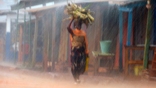 Pluie sur Dadieso (Ghana occidental), 14 décembre 2013. Photo : J.-F. Christensen