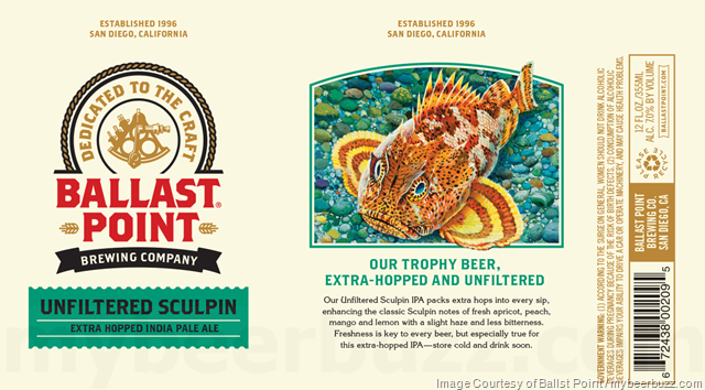 Ballast point Unfiltered Sculpin Cans