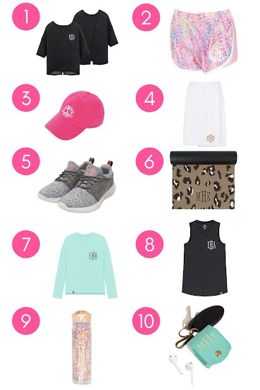Monogrammed Athleisure Items You Need To Elevate your Workout Look from Marleylilly.com