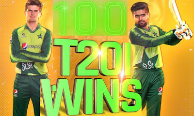 Pakistan Cricket team becomes First to score 100 T20 wins