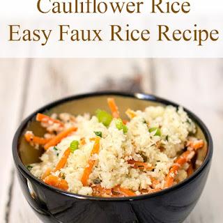 Gluten Free Cauliflower Rice.