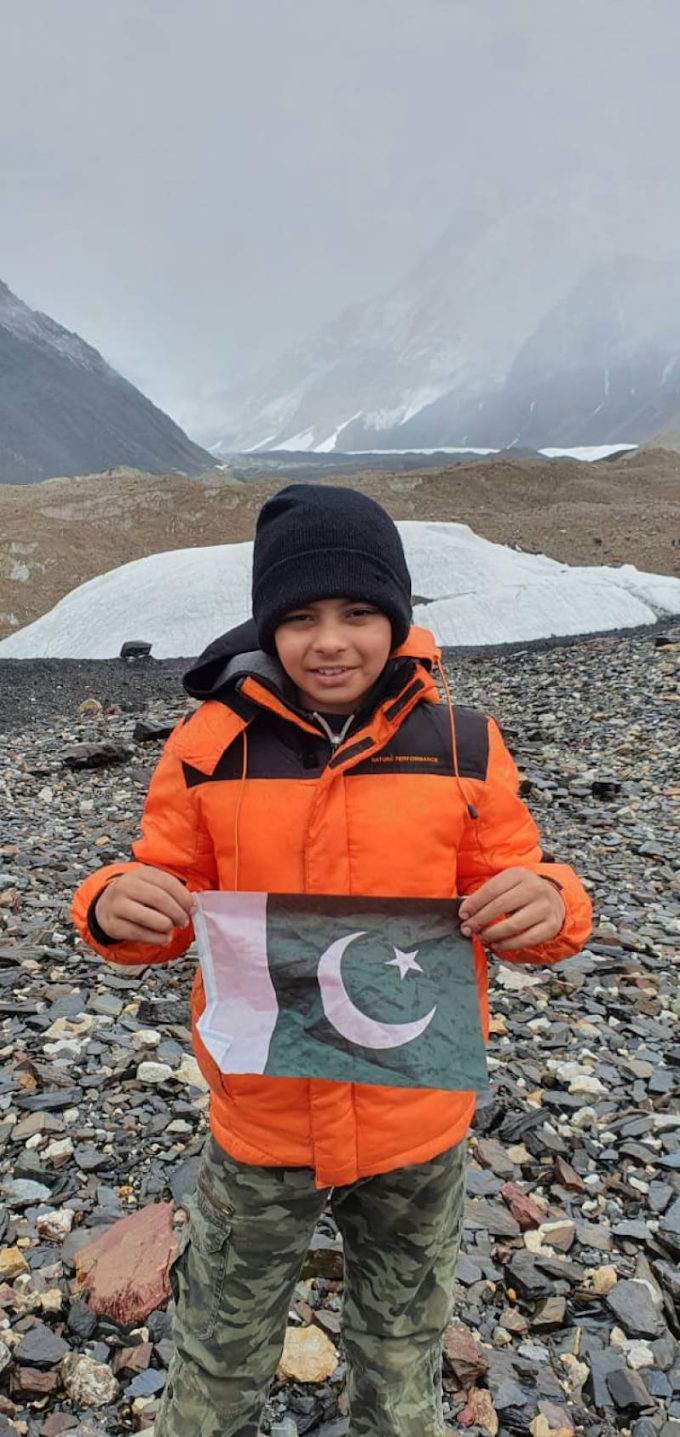 A 10-year-old Pakistani boy sets a world record of the youngest climber to reach K2 Basecamp