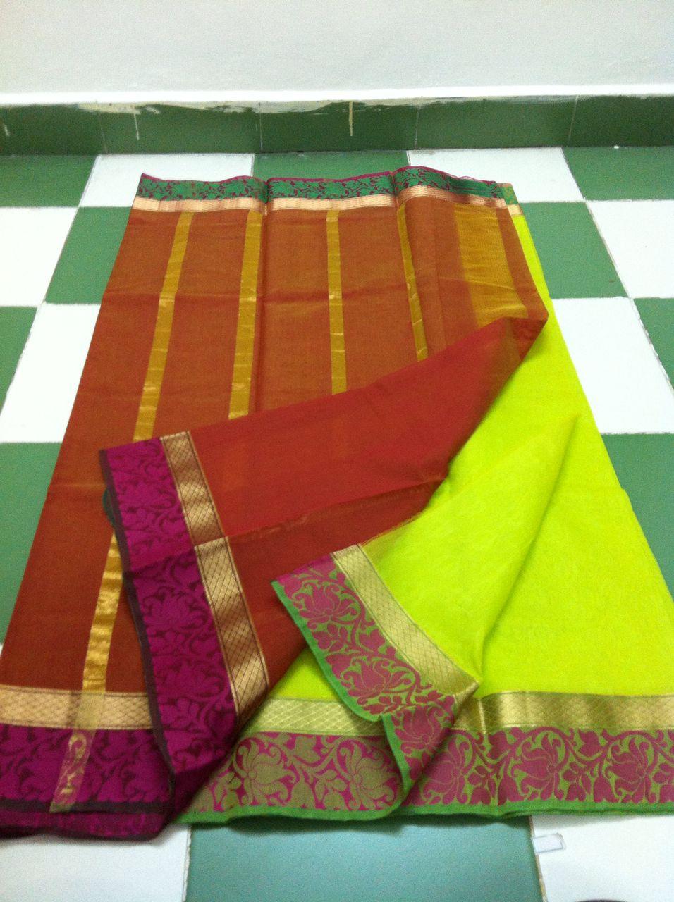 e4af62cc2e3798 Kora Cotton Saree   Rs. 1800