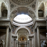 inside the pantheon in Paris in Paris, Paris - Ile-de-France, France