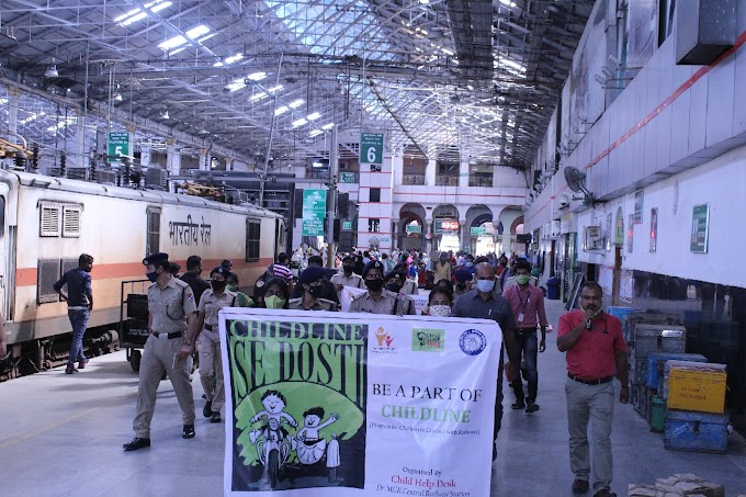 Southern Railway observes Child Rights Day at Chennai Central Railway Station