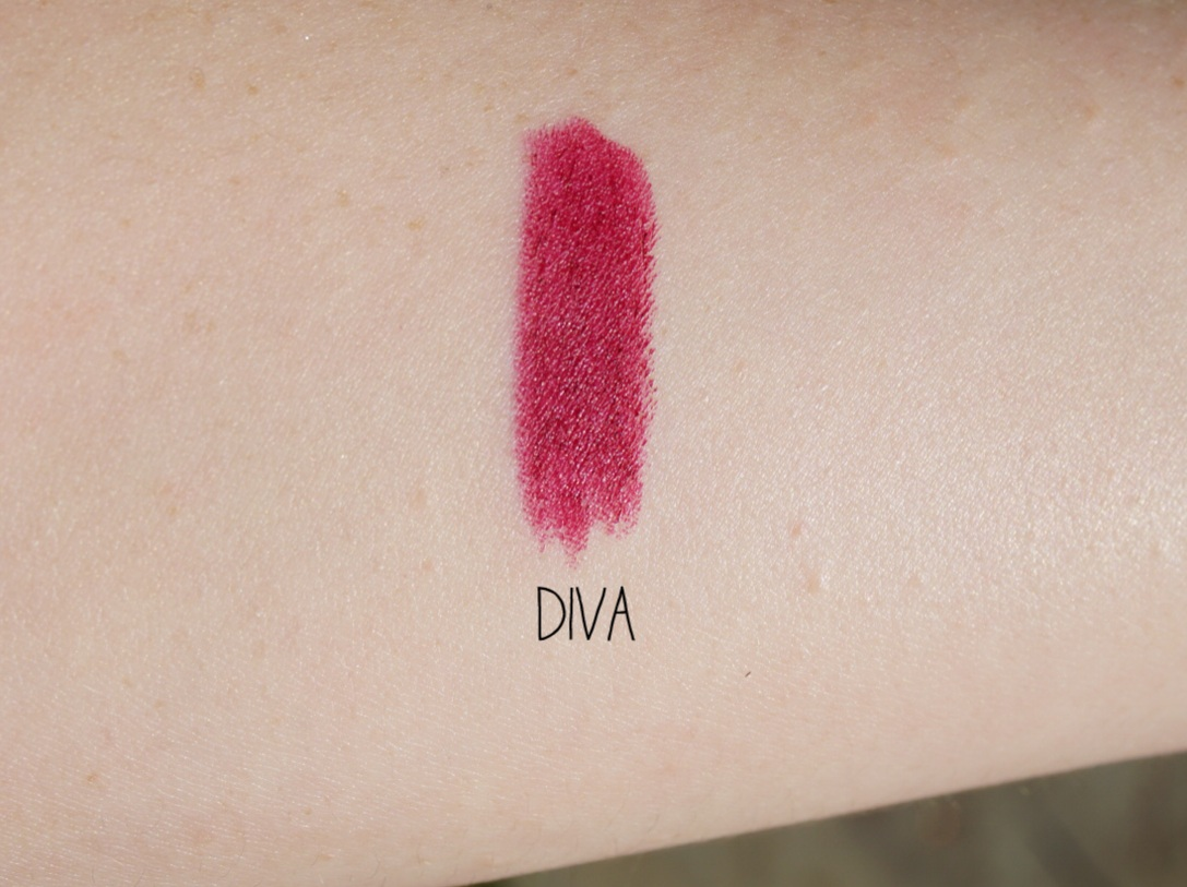mac diva swatch review