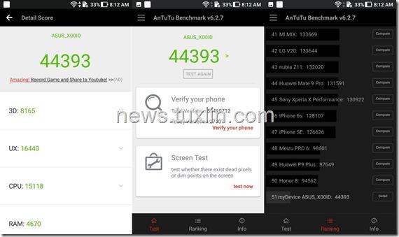 Benchmark Asus Zenfone 4 Max Pro ZC554KL AnTuTu v6