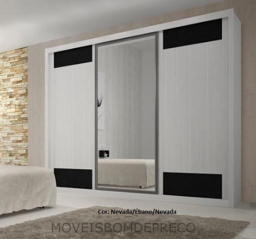 Guarda Aluminio Baño:Guarda Roupa Ravena1 Móveis Rufato – C/ 1 Espelho – R$ 2279,90 em
