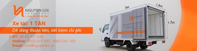 Kích thước thùng xe tải 1 tấn