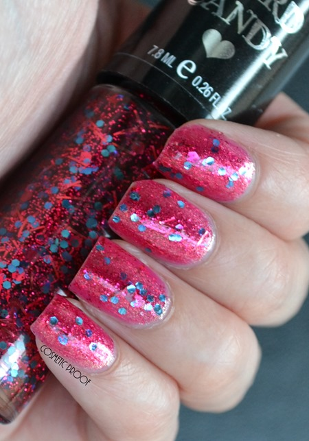 Hard Candy Piece of Papaya and Fireworks Swatch Review (2)