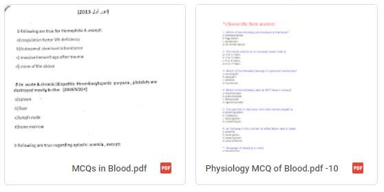 blood mcq