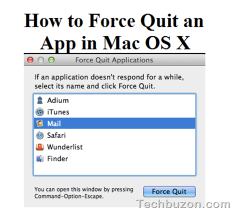 Force Quit an App in Mac