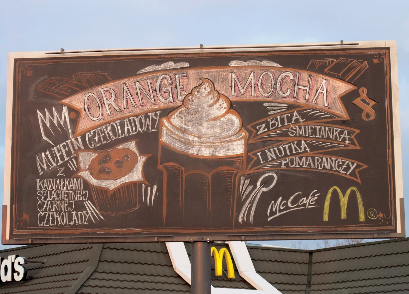 McDonald's Chalkboard Menu Billboard