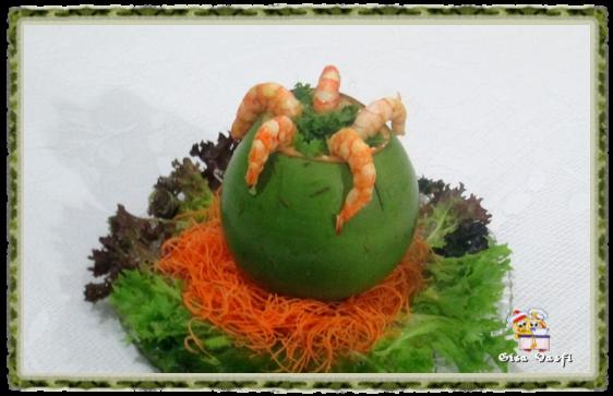 Camarão no coco verde 2