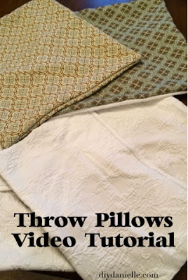 How to made easy pillowcases for throw pillows.