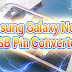 Samsung GT-N7100 Galaxy Note II Charging Ways with Converted USB Pin Solution