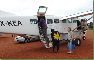 Plane in arua with Kristi