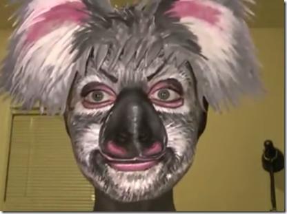 maquillaje de koala
