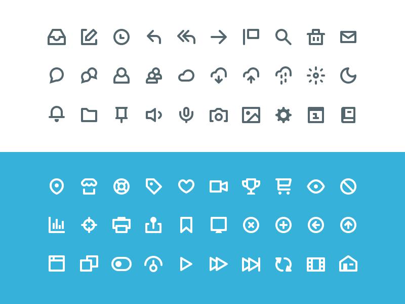 60 Vicons Free Icon Set PSD