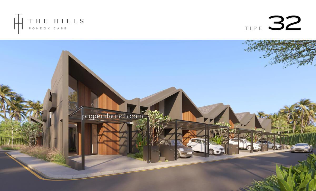 Rumah The Hills Pondok Cabe Tipe 32