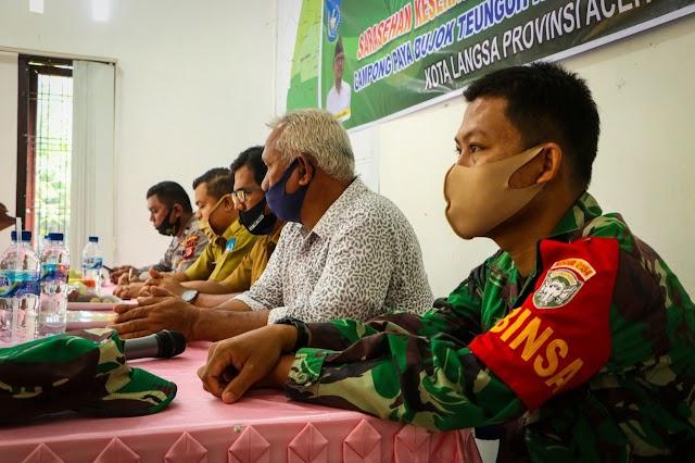 Babinsa Ramil 22/Lgsb Hadiri Sarasehan Keserasian Sosial Tahap I Tahun 2020 Di Paya Bujok Teungoh