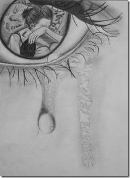 dibujos lapiz llorar y tristeza  (15)