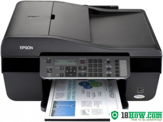 How to reset flashing lights for Epson BX305 printer