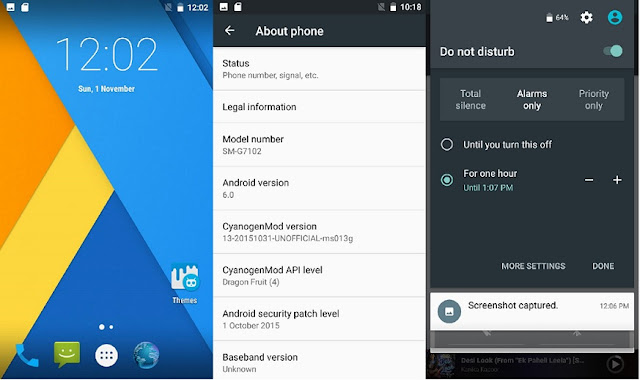 screenshots - android marshmallow grand 2 rom