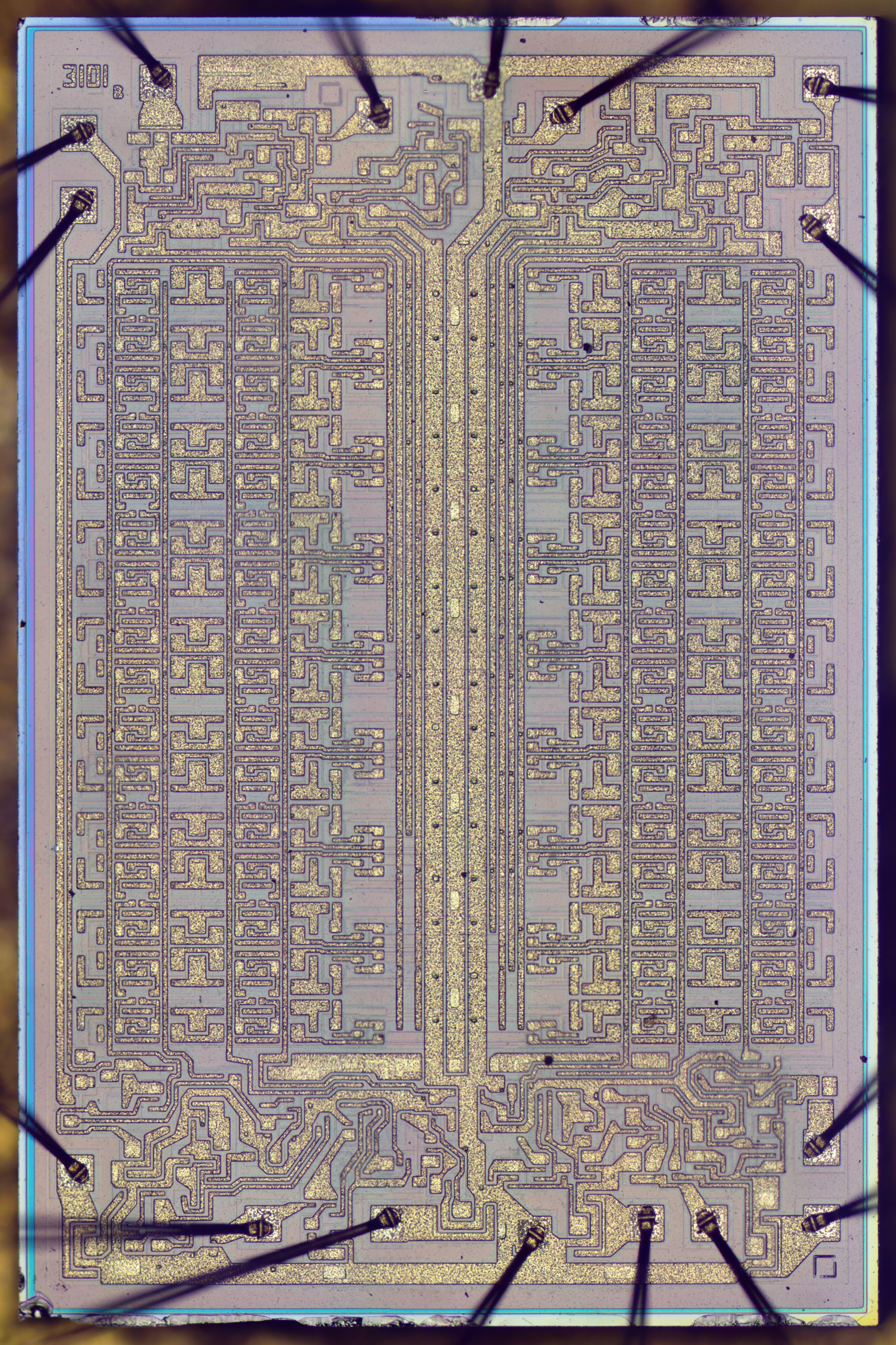 Inside Intels First Product The 3101 Ram Chip Held Just 64 Bits This Is A Diode Transistor Logic Dtl Nand Gate Circuit Using Bipolar Die Photo Of Intel Bit Click For Larger