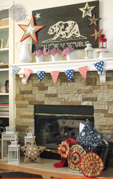 Fourth of july california mantel