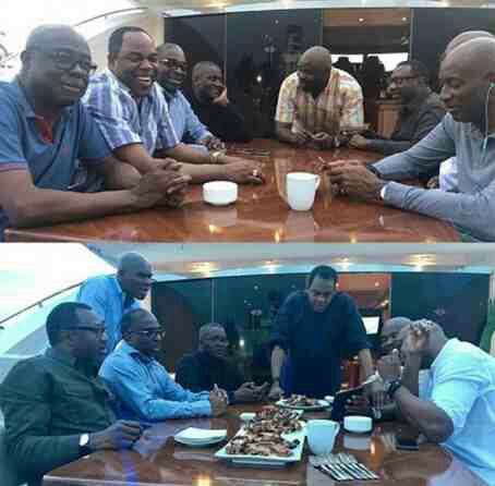 Dangote, Otedola and friends celebrates sallah on a yacht
