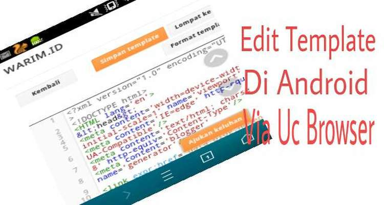 Edit template di android via uc broweser