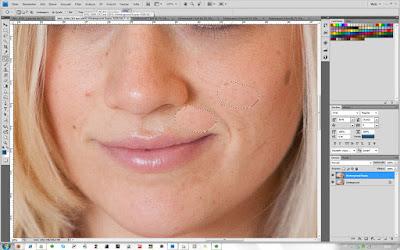 Ausbessern-Werkzeug - Schritt 2 in Photoshop