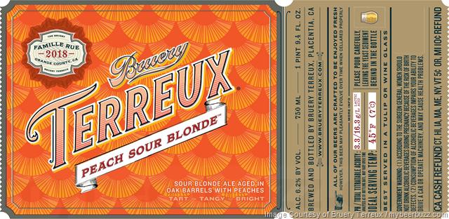 Bruery Terreux - Peach Sour Blonde