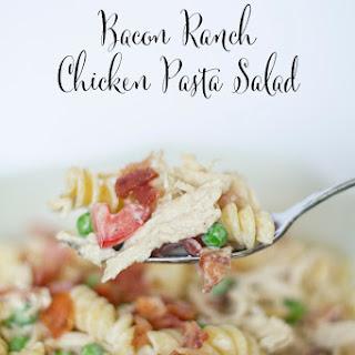Bacon Ranch Chicken Pasta Salad.
