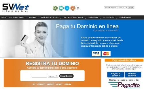 SVNet renueva su sitio y permite pagos en linea