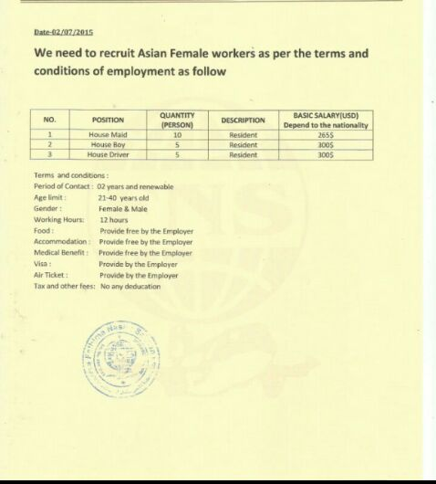 Abroad Team Mostly We Deal In Payment After Visa Or Work Permit