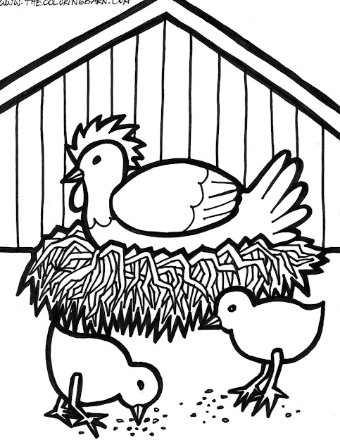 Free Rooster Pictures To Print  Farm Animal Printable Coloring Sheets   The Coloring Barn