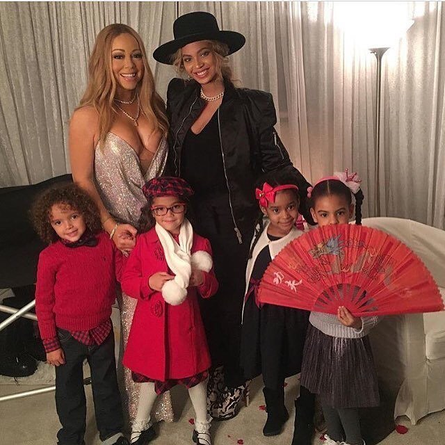BEYONCE AND MARIA CAREY POSE IN PICTURE WITH THEIR KIDS [PHOTO]
