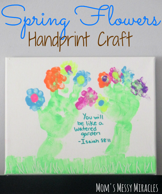 Spring-Flowers-Handprint-Craft
