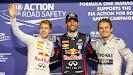 Sebastian Vettel, Mark Webber and Nico Rosberg