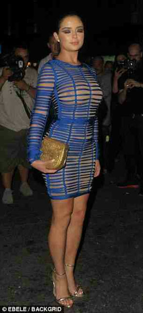 Demi Rose In Ripped Dress