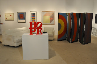 Photo: Works by Robert Indiana and Sol Lewitt at Waterhouse & Dodd Fine Art