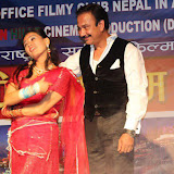 Bhawana Dhakal with Nepali Actors: Photo: Trilochan Koirala