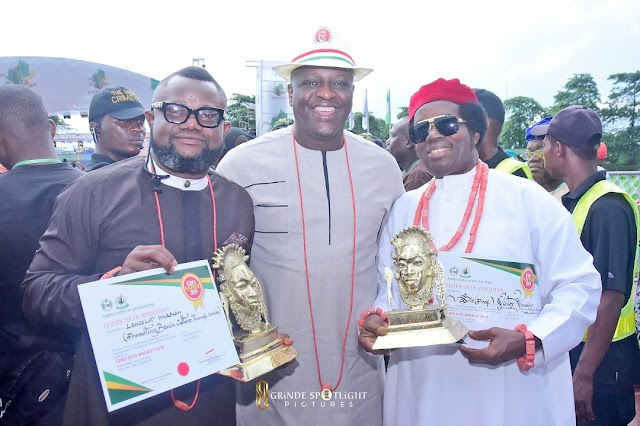Lancelot Imasuen Takes Nollywood To Nepal, Gets NAFEST Honors With Sir Victor Uwaifo