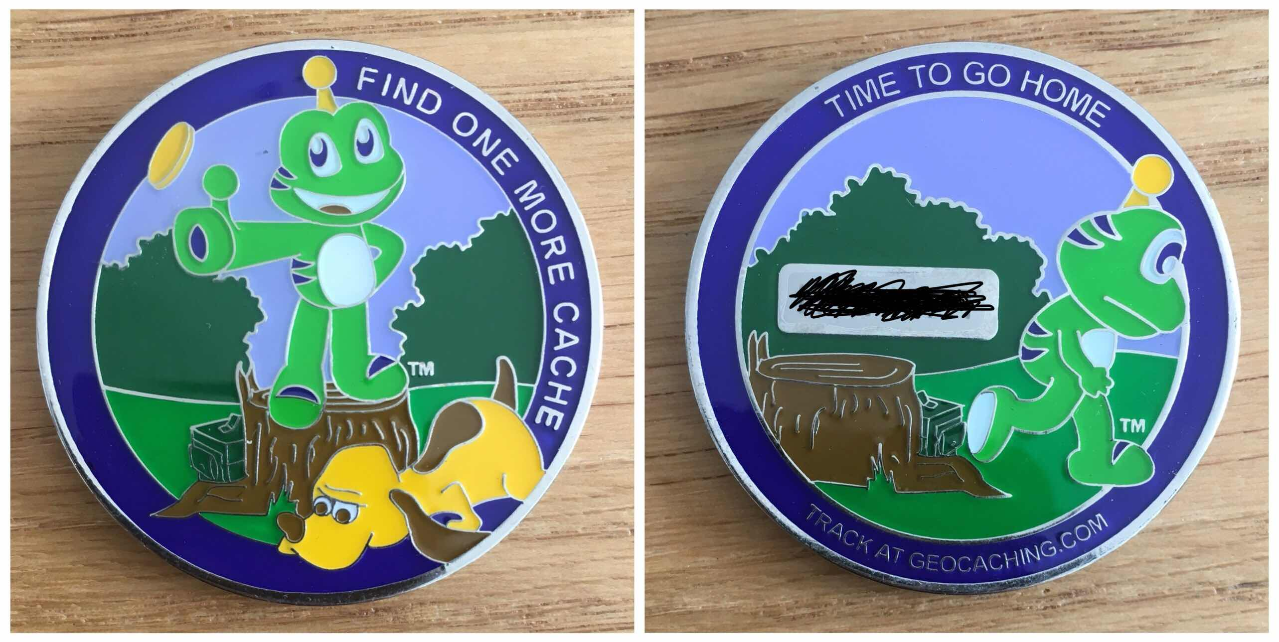 Trackable Geocoin
