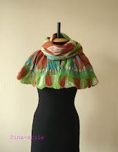 Photo: валяный шарф на шелке