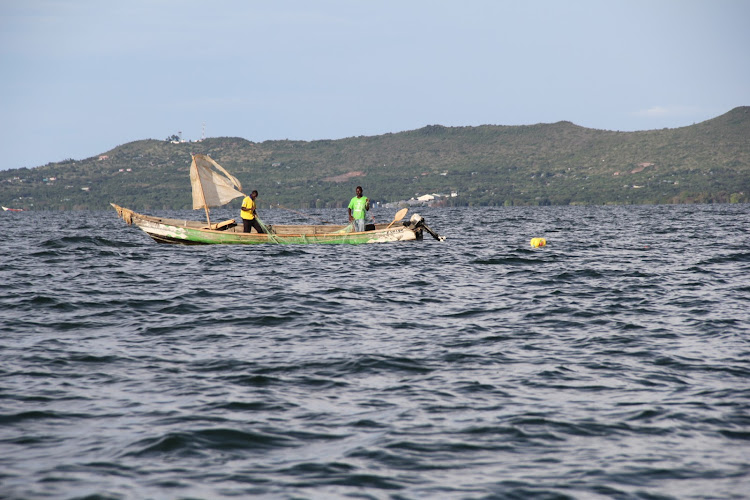 Fishermen in Lake Victoria on Rusinga Island in Suba North constituency on March 23, 2021