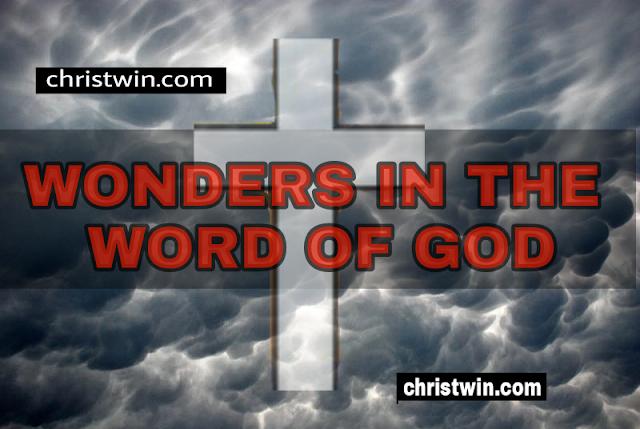 WONDERS IN GOD WORD
